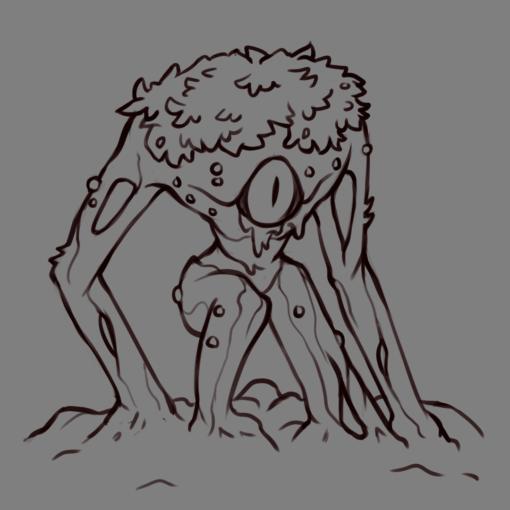 Monster : Plant aberration D&D lineart by Smirking Raven