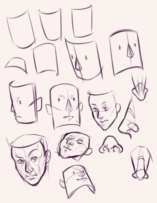 Character doodles and faces practices : <br/>Drawing drill #75 by Smirking Raven