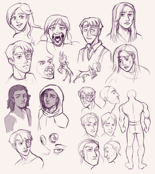 Character expressions and practices : <br/>Drawing drill#78 by Smirking Raven