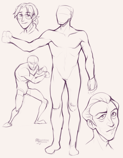Face expressions, poses, character design : <br/>Drawing drill#85 by Smirking Raven
