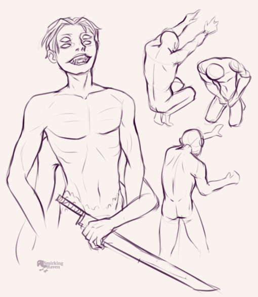 Poses, hands and characters : <br/>Drawing drill#86 by Smirking Raven