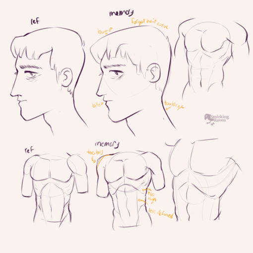 Torso, abdominal muscles and hands: <br/>Drawing drill#88 by Smirking Raven