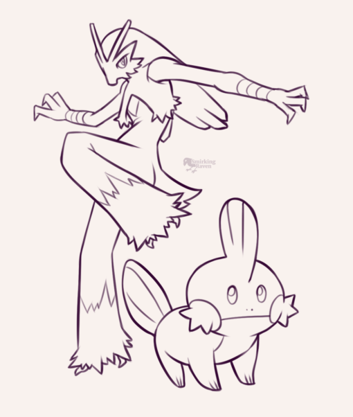 Pokémon doodles: <br/>Drawing drill#90 by Smirking Raven