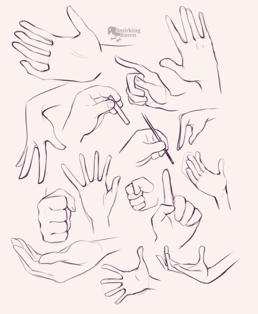 Hands and characters: <br/>Drawing drill#91 by Smirking Raven