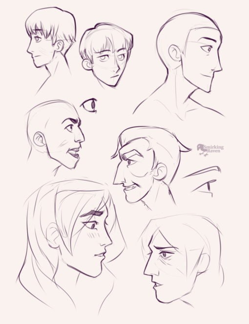 Faces, profiles and hands : <br/>Drawing drill#92 by Smirking Raven
