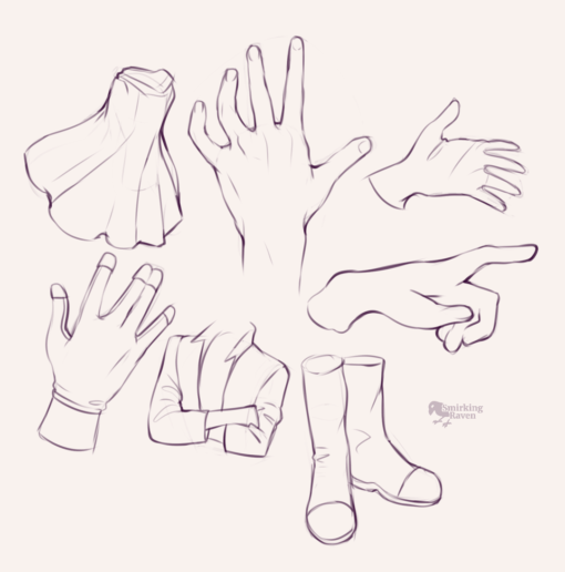 Hands and cloth - Drawing drill by Smirking Raven