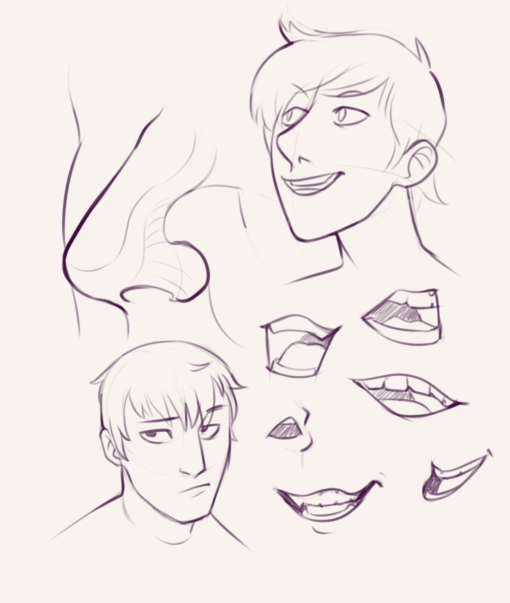 Mouths and faces - Drawing drill by Smirking Raven