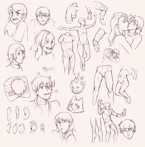 Faces, expressions, anatomy, kiss : <br/>Drawing drill#98 by Smirking Raven