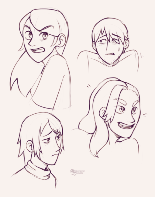 Character faces - Drawing drill by Smirking Raven