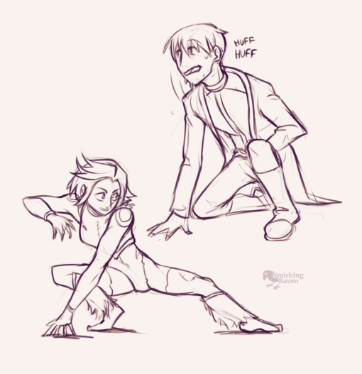 Action pose - Drawing drill by Smirking Raven