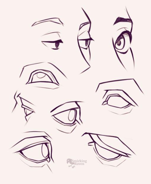 Eyes anatomy - Drawing drill by Smirking Raven